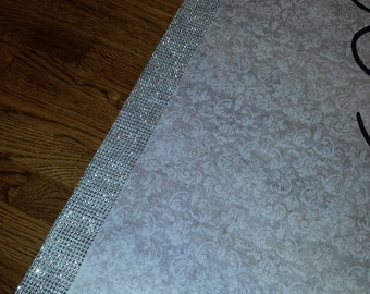 FREE RUSH SPECIAL White or Ivory Wedding Aisle Runner with Rhinestone Border