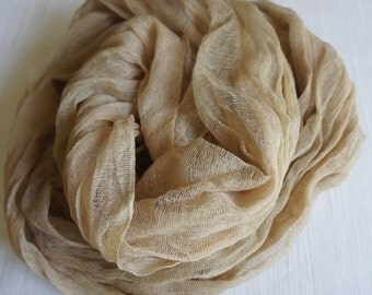 Cheesecloth, Newborn Wrap Photography Prop, Taupe Cheesecloth, Baby Wrap, Newborn Photo Prop, Newborn Cheeseclth Wrap, Gauze