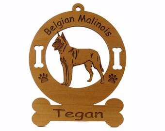 1623 Belgian Malinois Standing Personalized Ornament