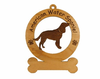 1270 American Water Spaniel Personalized Ornament