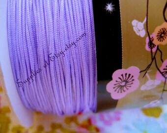 Lavender Silky Nylon cord bracelet/knotting/beading cord .8 mm 10 feet-Pastel Purple like silky Great Quality DIY Macrame,Shambhala Bracelet