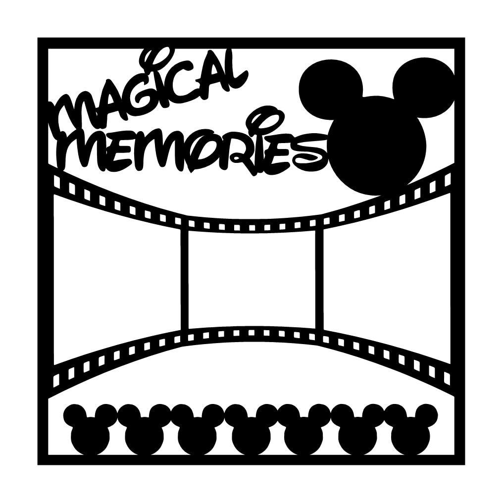 Magical Memories Scrapbooking Die Cut Overlay by NotJustScrap