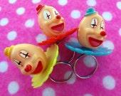 Creepy Joker Carnival Clown Rings