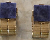 Mens Blue Lapis Colored French Cufflinks