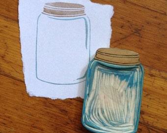 Jar Stamp Hand Carved