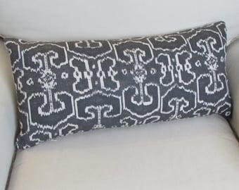 BENGALI GRAY decorative designer pillow 13x26