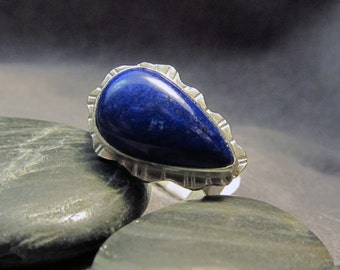 Handmade Blue Lapis and Sterling Silver Ring