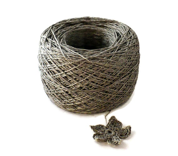 Crochet Thread 3 Ply Linen Thread Zinc Linen Yarn Specialty Thread Tatting Thread