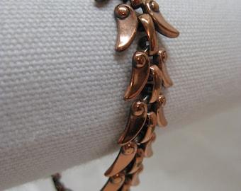 Copper Bracelet Modern Vintage