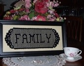 VIctorian Crochet Name Doily Make your Gift Personal Family Heirloom