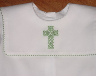 Boys Special Occasion Romper with Celtic Cross