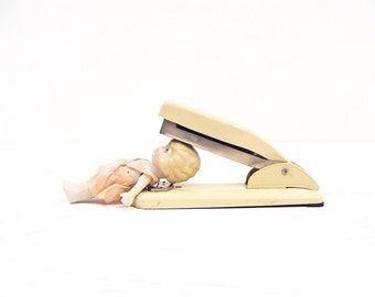 "1950's ""Buddy""  Wilson Jones Stapler, Model T155 Beige"