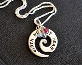 Birth Without Fear Spiral Necklace
