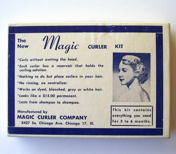 Vintage 1950s Hair Permanent Wave Curlers Rollers Magic Curler Company Chicago