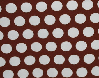Knit Brown big caffee dots french dots 1/2 yard