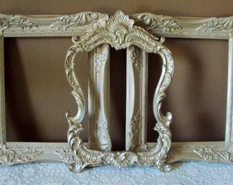 Set of 3 French Country Champagne Gold (Shown) or Your Color Choice 11x14 Picture Frames Wall Gallery Vintage Inspired Ornate Wall Art