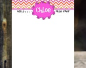 Camp stationery girl notecards camp cards boy notecards children cards personalized flat cards
