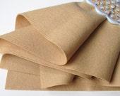 Camel Wool Felt, 100% Wool, DIY Crafting Supply, Felt Doll Fabric, Waldorf Handwork, Wool Applique, Wool Felt Fabric, Flesh Tone Felt