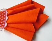 Carrot Wool Felt, Bright Orange Felt, Choose Size, Felt Fabric, Wool Felt Square, 100% Wool Felt, DIY Supply