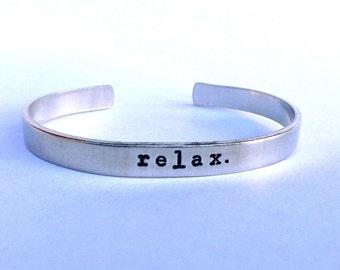 Relax- Cuff Bracelet
