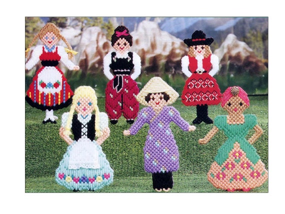 Plastic Canvas Dolls Pattern Around The World 18 International ...