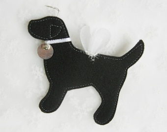 Black Lab Angel Ornament - FREE Personalization