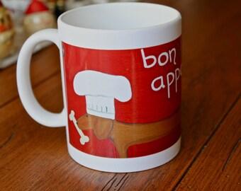 Dachshund  Ceramic Mug  bone  appetite