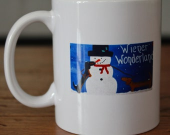 Dachshund Gifts Ceramic Mug Wiener Wonderland