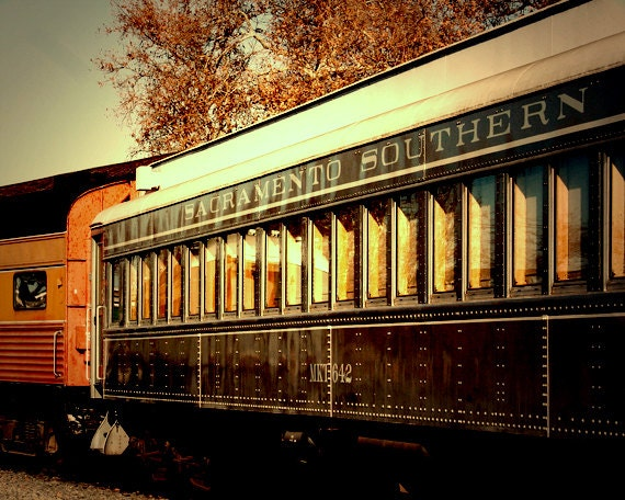 Man Cave Train Room : Vintage train photography railroad by