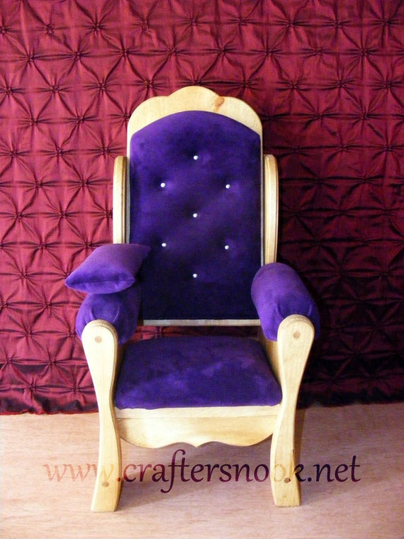 Purple Newborn Photography Prop Throne Chair And By