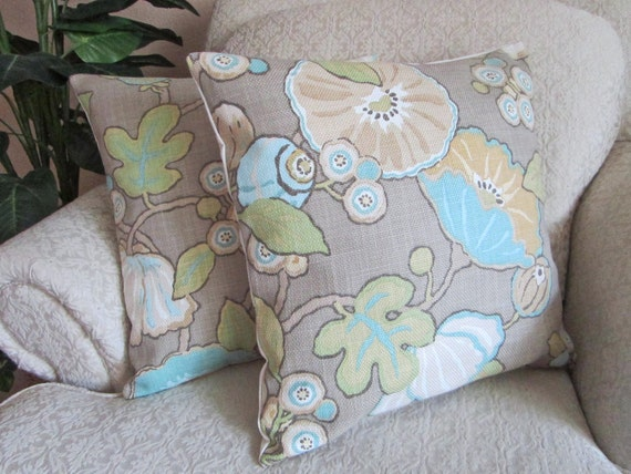 Modern Pillow Covers Etsy : Neutral Cushion Covers Modern Floral Pillow by asmushomeinteriors
