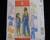 Uncut McCall's Pattern 4762 Child Size 7,8,10,12 Girls Top, Shorts, Skorts and Capri Pants
