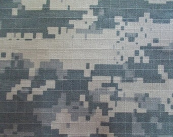 60 Inch Wide Cotton Ripstop Camoflauge Fabric Army Green Beige