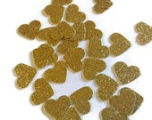 Gold Glitter Heart Confetti Package Of 500