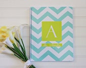 Chevron Spiral Bound Personalized Notebook