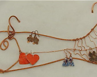 Copper Fish. Copper Wall Hanging. Fish Wire Mobile. Copper Jewelry Display. Copper Wire Sculpture.