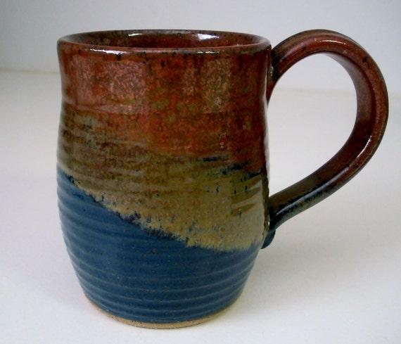 Ceramic Mug Handmade Pottery Mug Clay mug Black by ...  |Black Stoneware Pottery Mug