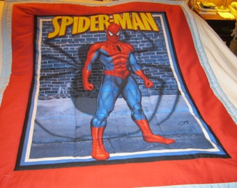 Handmade Spider-Man Cotton Baby/Toddler Quilt-Newly Made 2016