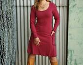 Organic Clothing - Hemp Long Sleeve Elven Pocket Dress