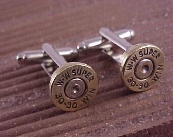 Bullet Cufflinks / 30-30 Rifle Shell Cuff Links / Wedding Cufflinks / Groomsmen Gift / Gifts For Men / Sportsman Gift