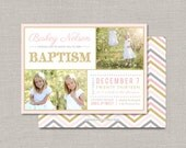 LDS Baptism Invitation - Bailey