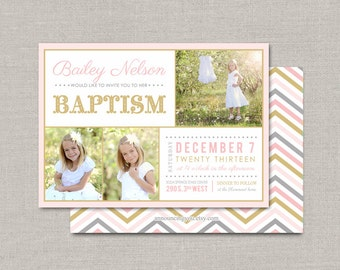 LDS Baptism Invitation - Bailey