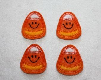 Candy Corn Halloween Felt Applique - Set of 4
