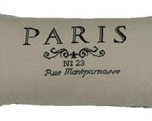 Cross stitch pattern PARIS - cross stitch,needlepoint,embroidery pattern,french country,burlap pillows,french linen,pillow,cushion,diy,black