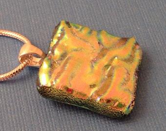 Cotton Candy - Dichroic Glass Pendant Necklace