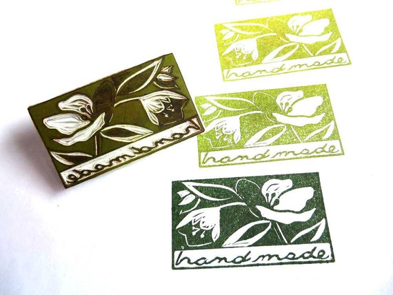 Elegant Hand Made Flower Rubber Stamp, Shop Makeover For Spring, Say Hand Made To Your Customers With This Unique Rubber Stamp