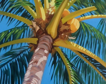 "Under the Palm Matted Giclee Print 14 1/4"" x 19"""