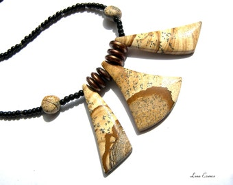 Picture Stone Jasper Necklace Statement Jewelry Gift Ideas Jasper Necklace Popular Jewelry Top Selling Jewelry Gifts for Women
