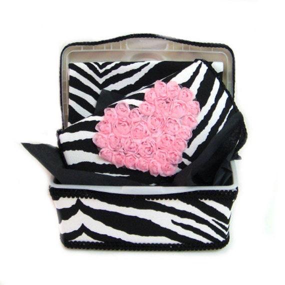 Baby Gift Basket Etsy : Items similar to black and white zebra baby gift basket