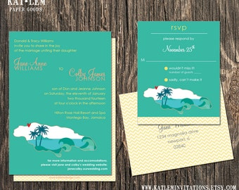 Jamaica Wedding Invitation Set - Jamaica Destination Wedding
